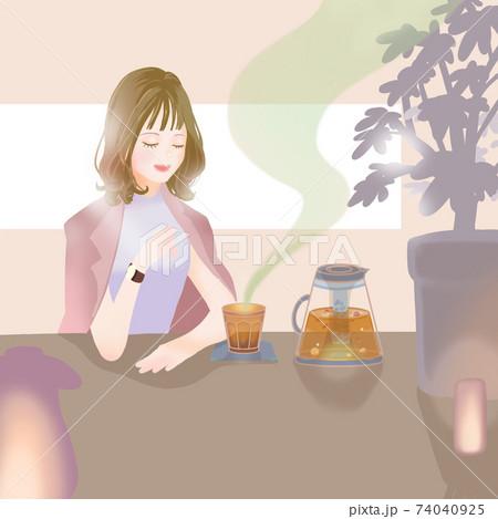 漢方cafeの女性/グリーン 74040925