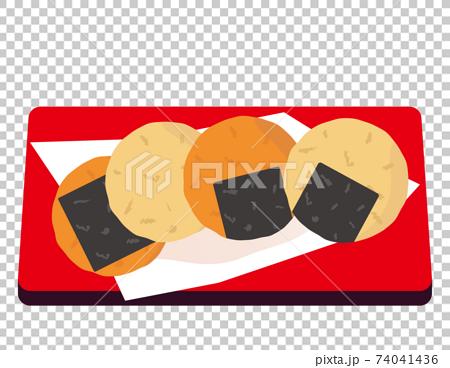 糯米餅日本甜點的矢量圖 74041436
