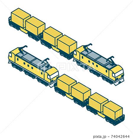 貨物列車のイラスト 74042644