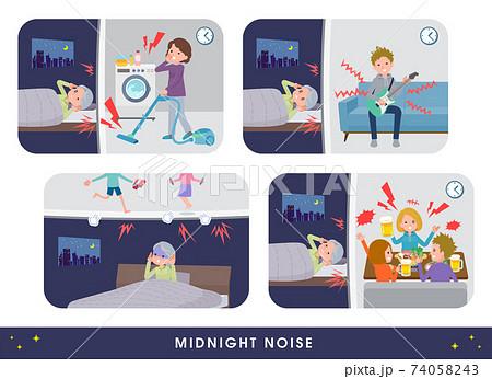 flat type Purple clothes grandma_Midnight-noise 74058243