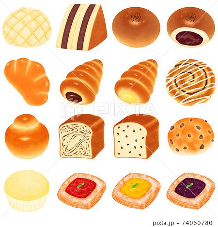 いろんな菓子パンイラストまとめ 74060780