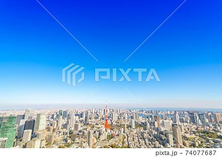 【東京都】大都市の風景 74077687