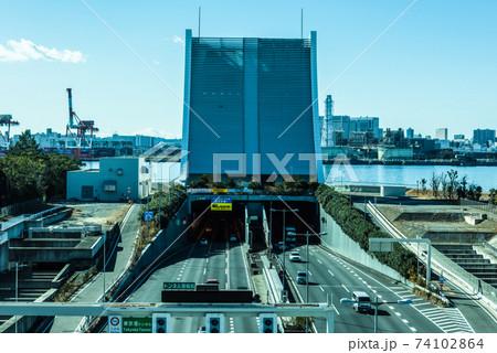 ゆりかもめ車窓からの風景 東京港トンネル 74102864