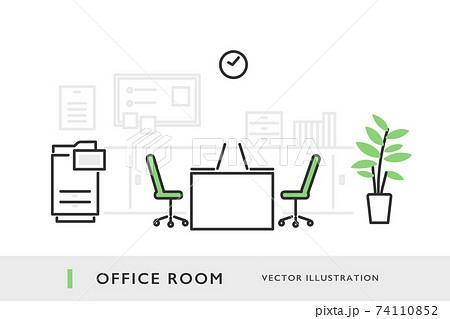 オフィスのイメージイラスト素材 74110852