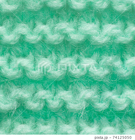Turquoise, mint color knitted fabric seamless pattern for borderless fill. 74125050