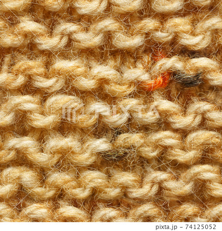 Brown knitted fabric seamless pattern for borderless fill. 74125052