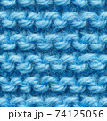 Blue knitted fabric seamless pattern for borderless fill. 74125056