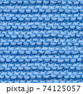 Blue knitted fabric seamless pattern for borderless fill. 74125057