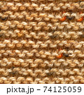 Brown knitted fabric seamless pattern for borderless fill. 74125059