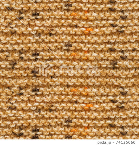 Brown knitted fabric seamless pattern for borderless fill. 74125060