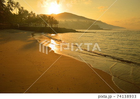 Bali Island sunset 74138933