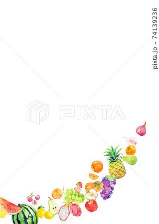 水彩イラスト 果物 フルーツ 74139236