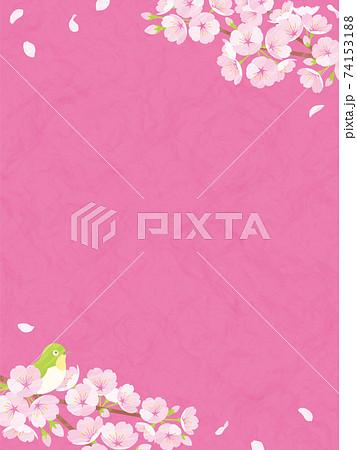 桜の背景素材 ピンクの和紙 74153188