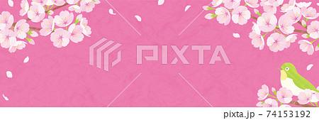 桜の背景素材 ピンクの和紙 74153192