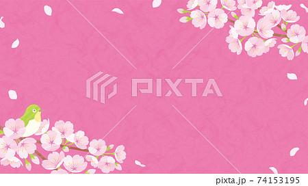 桜の背景素材 ピンクの和紙 74153195