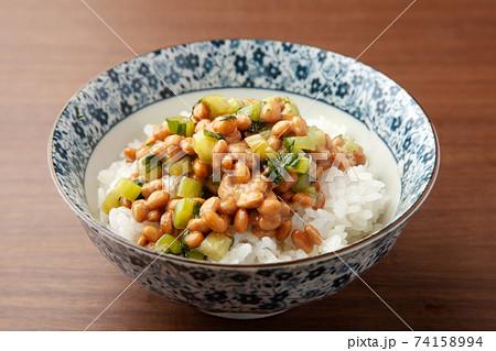 野沢菜納豆ご飯 74158994