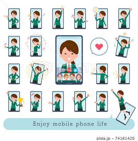 flat type school girl Green Blazer_Enjoy-mobile 74161420