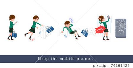 flat type school girl Green Blazer_Drop-the-mobile 74161422