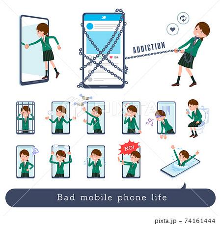 flat type school girl Green Blazer_Bad-mobile 74161444