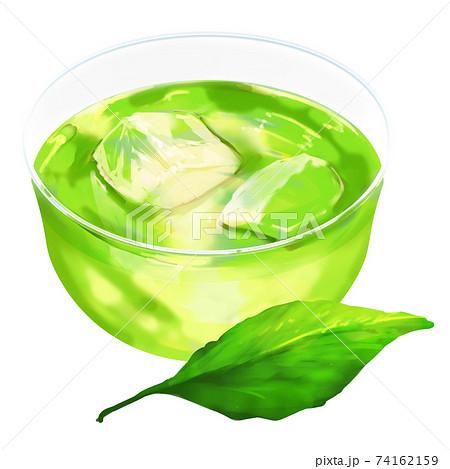 一つの葉と緑茶 74162159