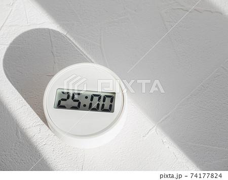 デジタルタイマー25分。25:00。時間管理・ルーティーン。 74177824