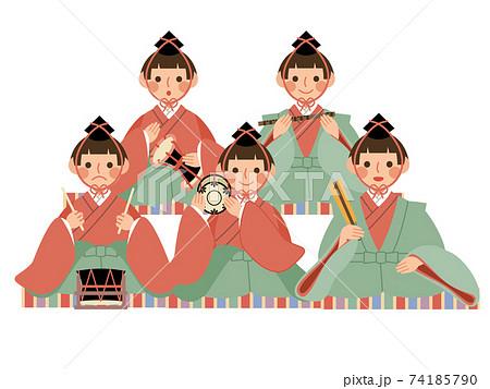 ひな祭り 五人囃子 毛氈 74185790