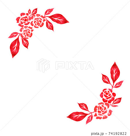 赤いバラの背景イラスト 74192822