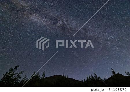 富士山5合目から見る星空 74193372