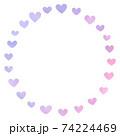 Heart Pattern Circle 74224469