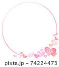 Heart pattern frame valentine's day illustration 74224473