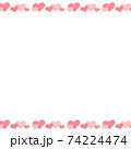 Background image with heart bands above and below 74224474