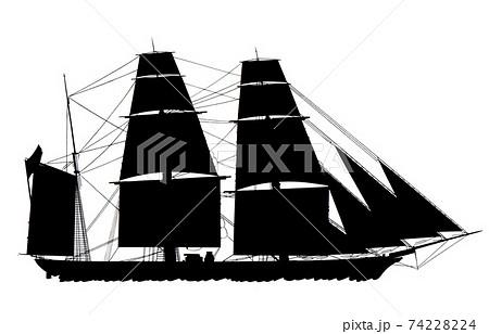 帆船ーシルエット 74228224