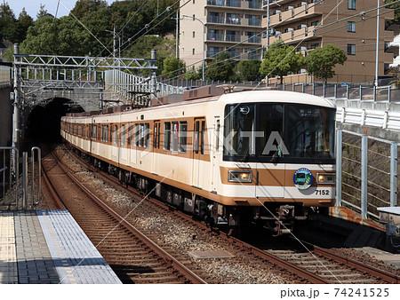 伊川谷駅の神戸市交通局7000系 74241525