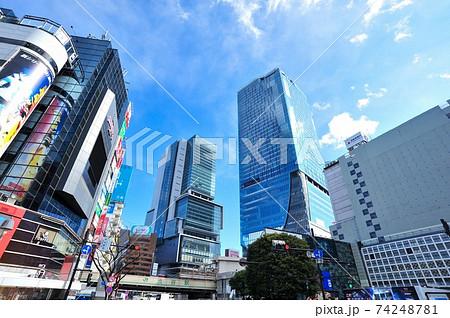 渋谷 スクランブル交差点 74248781