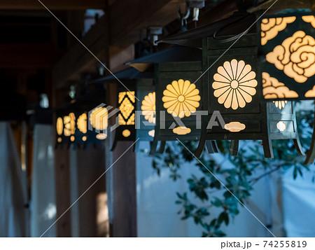 小江戸川越の風情豊かな景色 由緒ある社寺の灯り 74255819