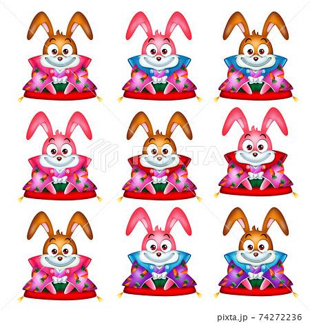 ウサギのあいさつのバリエーション 74272236