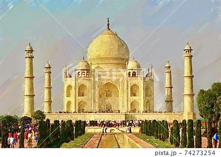 インド・タージマハルの風景 74273254