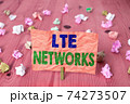 Writing note showing Lte Networks. Business photo 74273507