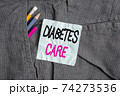 Word writing text Diabetes Care. Business concept 74273536
