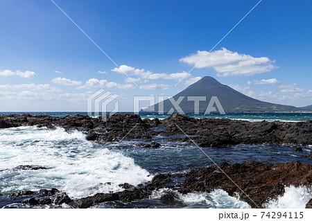 長崎鼻から見た開聞岳(薩摩富士) 74294115