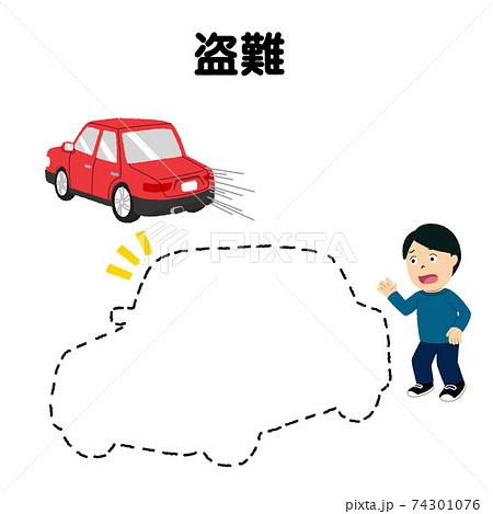 車両保険(盗難)のイラスト 74301076