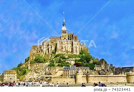 フランス・モンサンミシェルの風景 74323441