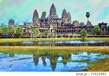 カンボジア・アンコールワットの風景 74323965