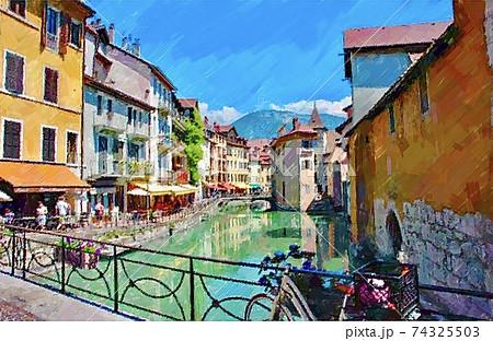 フランス・アヌシーの街並み 74325503