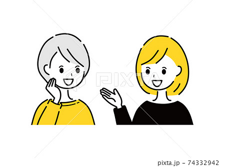 女性 会話 おしゃべり 74332942