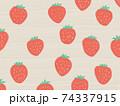 イチゴ柄の背景 フルーツ 74337915