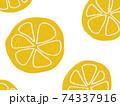 フルーツ柄の背景 レモン オレンジ 74337916