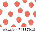 イチゴ柄の背景 フルーツ 74337918