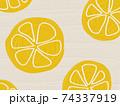 フルーツ柄の背景 レモン オレンジ 74337919