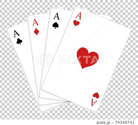 트럼프 카드의 에이스 세트 74348741